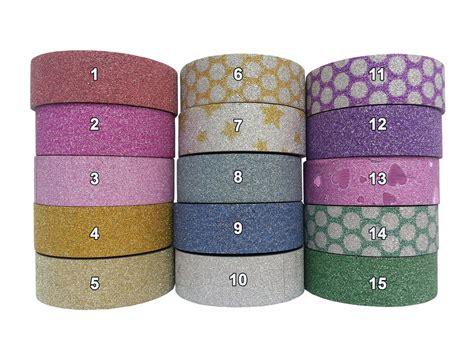 glitter craft paper glitter washi paper masking gift wrap self adhesive
