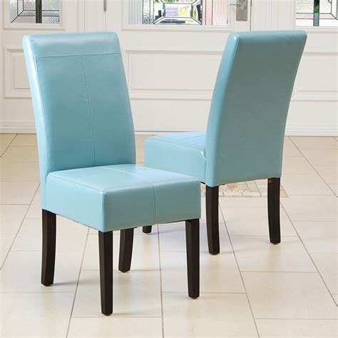 teal dining room chairs emilia teal blue leather dining chair set of 2 modern