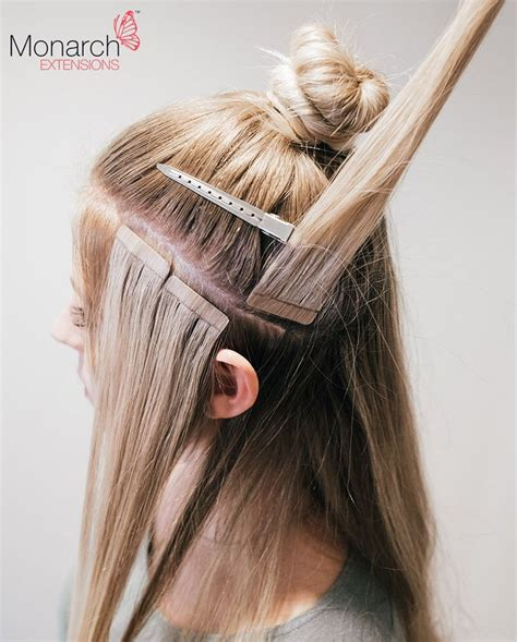 what is the best tap in hair extensions brand names monarch extensions top knot tape in method diagonal back