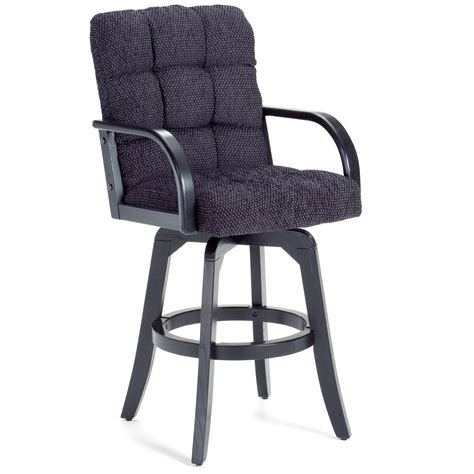 Black Leather Swivel Bar Stools by Furniture Counter Height Swivel Stool With Arm And Black