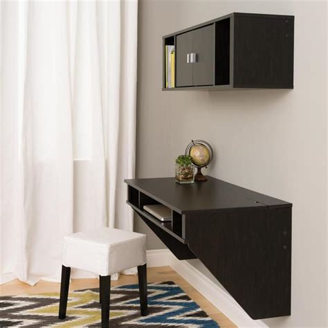 designer floating desk prepac designer wall mounted floating desk and hutch set