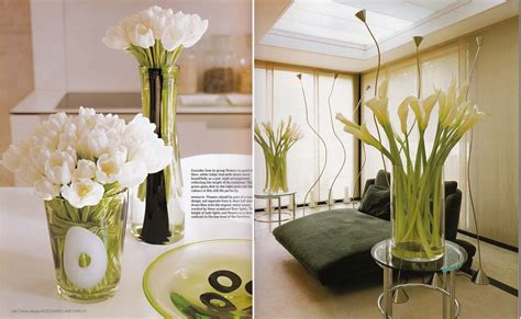 interior design with flowers white tulips and calla lilies kitchen dining interior