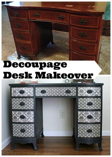 decoupage desk 17 best ideas about decoupage desk on