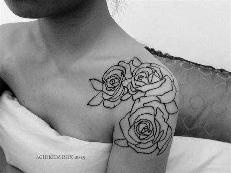 best 25 rose shoulder tattoos ideas on pinterest flower