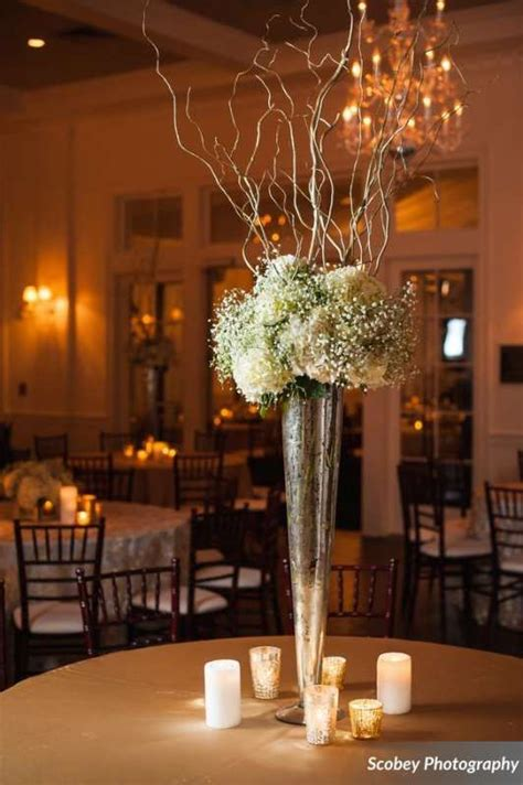 large chagne glass centerpiece best 25 trumpet vase centerpiece ideas on