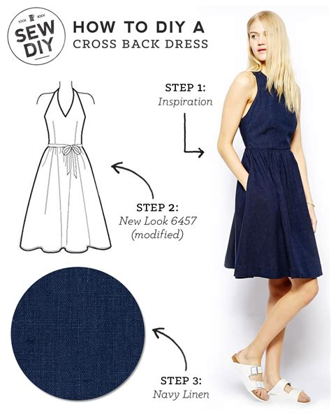 how to sew on a dress diy cross back dress sew diy