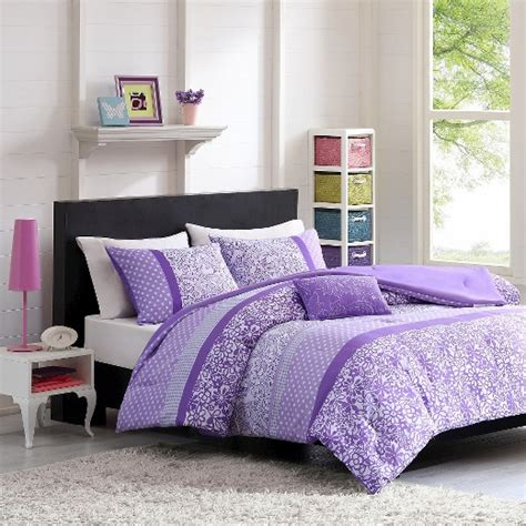 purple polka dot comforter sets angela polka dot floral comforter set purple target