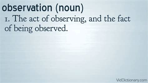 the definition of observation definition
