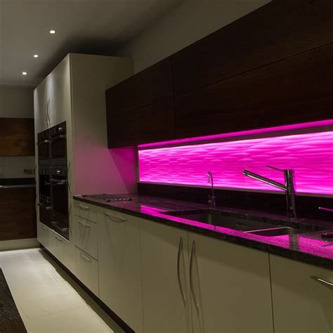 cabinet light strips add splashes of colour with led lights