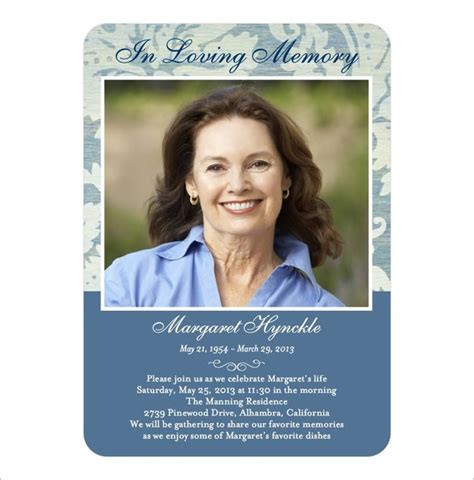 how to make a memorial card 21 obituary card templates free printable word excel