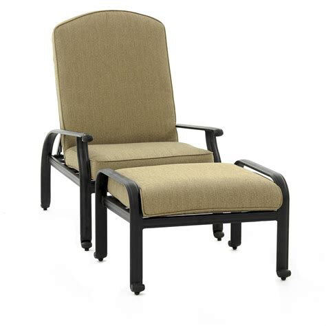 reclining patio chairs with ottoman rosedown reclining chair and ottoman patio seating set by