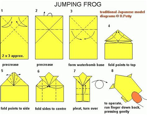 leaping frog origami jumping frog origami ž 225 ba