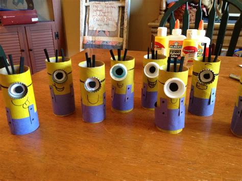 minion toilet paper roll craft diy easy minion craft cheap and easy toilet