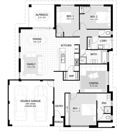 floor plans pictures 3 bedroom house plans home designs celebration homes