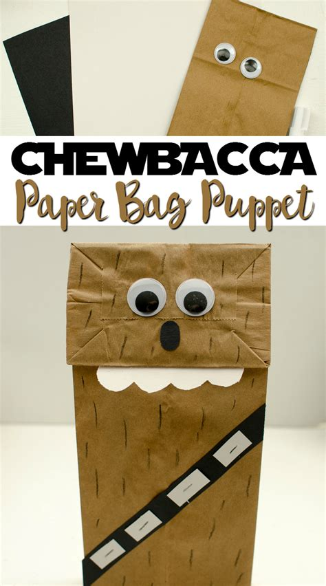 easy wars crafts for chewbacca paper bag puppet a grande
