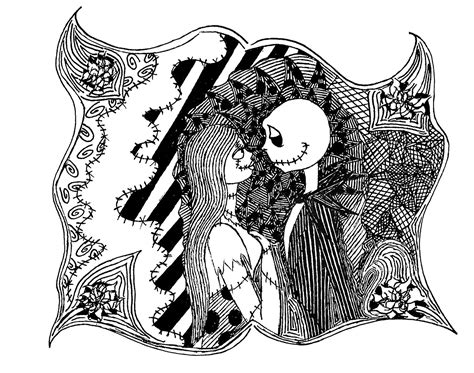 tim burton s the nightmare before coloring book for everybody the nightmare before