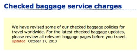 united checked bag fee domestic baggage below are the cabin and checked baggage