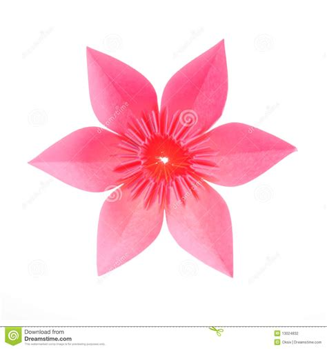 2d origami flower origami flower stock photography image 13024832
