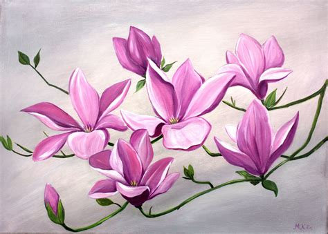 acrylic painting flowers canvas paintings of flowers in acrylic acrylic flower painting