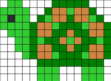 perler bead turtle pattern kandi patterns for kandi cuffs animals pony bead patterns