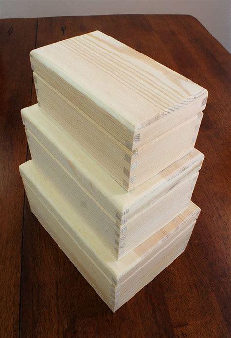 woodworking warehouse braeside unfinished wood box set multi size three nested