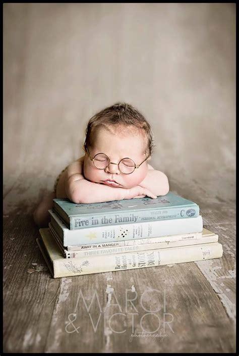 baby picture book ideas newborn pose photography idea books glasses boy marci