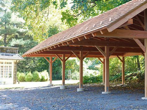 Carport Plans by Prefab Detached Garage Timber Frame Carport Timber Frame