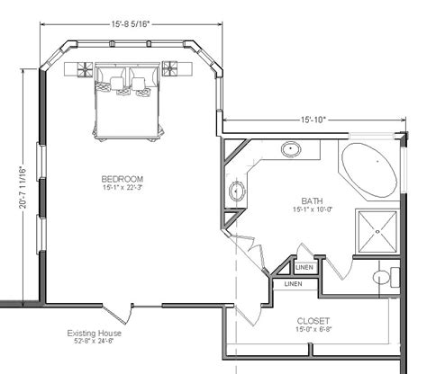 bedroom blueprint master bedroom addition