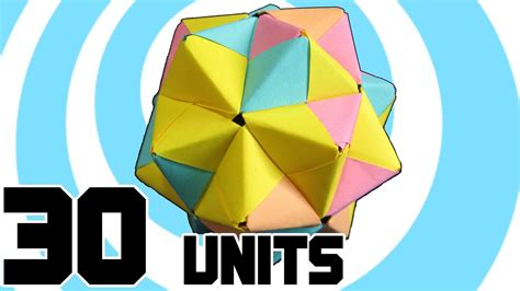 modular origami 12 units how to make modular origami icosahedron from 30 sonobe