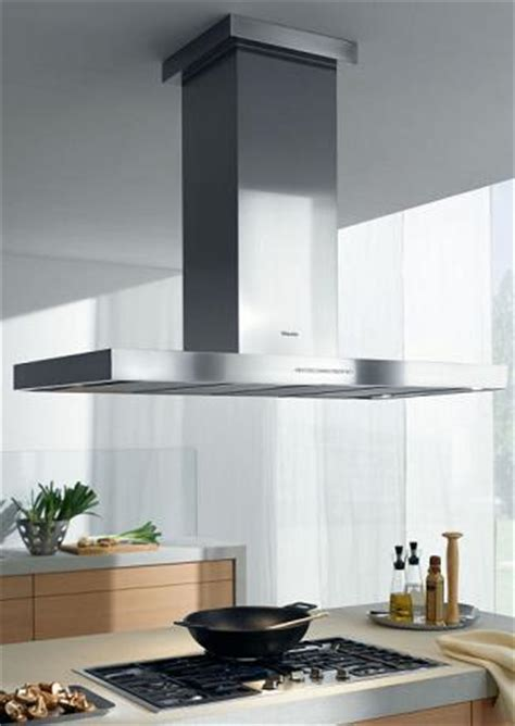 kitchen island vent hoods miele motorized height adjustable ventilation for modern hi tech kitchen