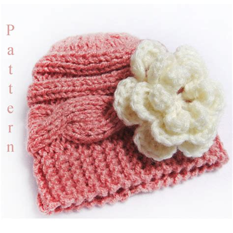 how to knit flower for baby hat knitting pattern baby hat knit newborn cable hat pattern