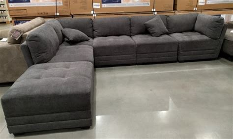 modular sectional sofa costco 6 modular fabric sectional in gray from costco