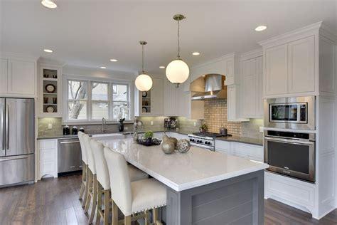 white kitchen island breakfast bar 30 gray and white kitchen ideas designing idea