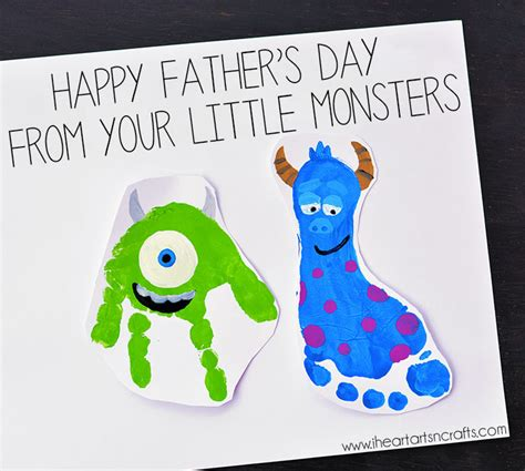 fathers day craft ideas for to make monsters inc inspired footprint i arts n crafts