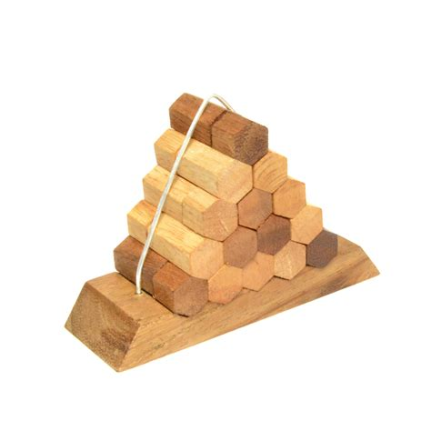 woodwork puzzles beehive pyramid puzzle wooden woodworking