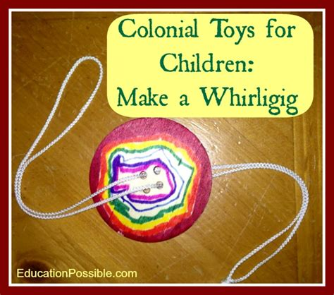 colonial crafts for to make colonial for children