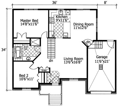 bungalow floor plans free plan 90204pd barrier free bungalow free floor plans