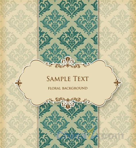 pattern card european pattern card design vector free vector graphic