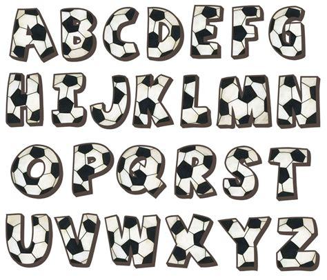 soccer alphabet wall decals