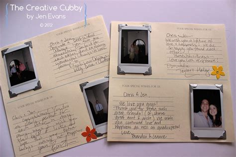 polaroid picture wedding guest book the creative cubby polaroid wedding guest book