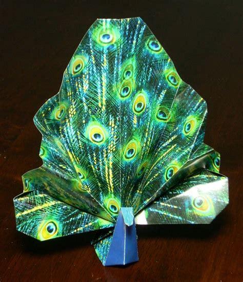 origami peacock peacock printable origami