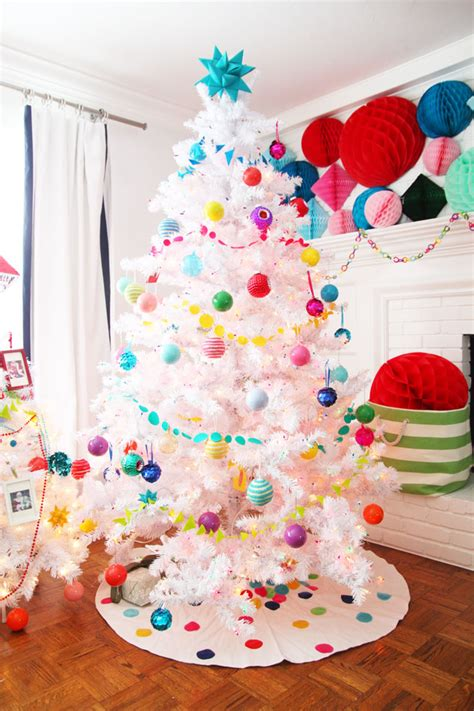 colorful tree decorations colorful decor white tree with land
