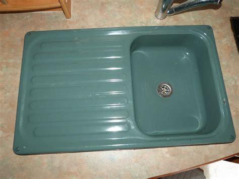 green kitchen sinks green kitchen enamel sink drainer caravan motorhome boats