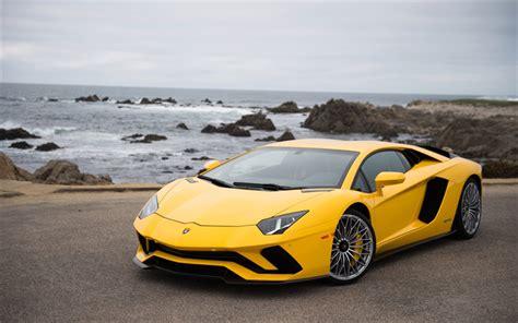 Supercar Wallpaper Yellow by Wallpapers Lamborghini Aventador S 2017