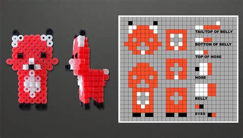 how to make 3d perler how to make a 3d perler bead fox