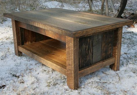 Hand Crafted Rustic Reclaimed Coffee Table by Echo Peak Design   CustomMade.com