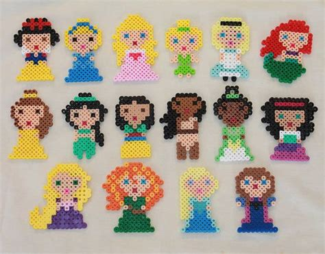 perler disney disney princesses made from perler by tiffanysobears
