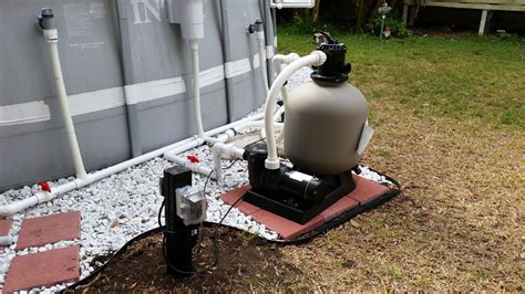 above ground pool and sand filter intex pool upgraded plumb pool sand filter