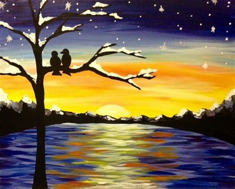 paint nite island pictures paint nite winter sunset