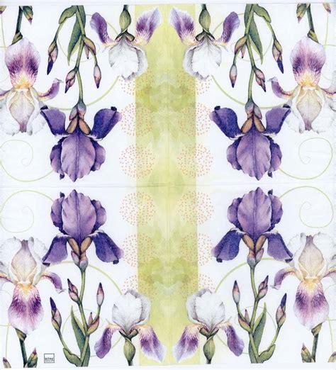 purple decoupage paper decoupage napkins of watercolor of iris flowers